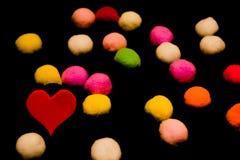 Serca dla walentynki ` s dnia Z faszerować piłkami Obrazy Stock