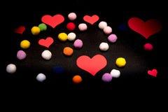 Serca dla walentynki ` s dnia Z faszerować piłkami Fotografia Royalty Free