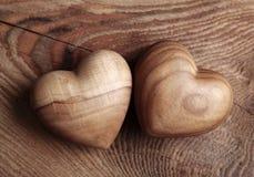 serca drewniani dwa Obraz Royalty Free