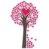 Serca drzewa wektor Obrazy Royalty Free