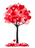 Serca drzewni royalty ilustracja
