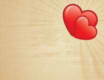 serca dwa Zdjęcia Stock