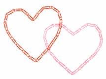 serca dwa Obraz Stock