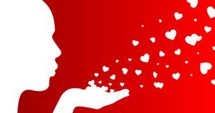 serca dziewczyn Zdjęcie Royalty Free