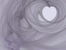 serca fractal dym Fotografia Royalty Free