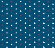 Serca i grzmotu wzór Zdjęcia Stock