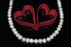 Serca i perły Obraz Royalty Free