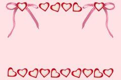 Serca i serca z pętlą Zdjęcie Royalty Free