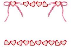 Serca i serca z pętli tłem Zdjęcia Royalty Free