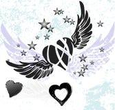 Serca i skrzydła Fotografia Royalty Free