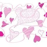 Serca i wzory ilustracji