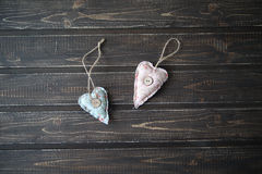 Serca jako symbol St Valentine& x27; s dzień Zdjęcia Royalty Free