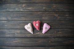 Serca jako symbol St Valentine& x27; s dzień Obrazy Stock