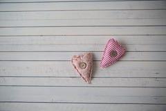 Serca jako symbol St Valentine& x27; s dzień Zdjęcie Stock