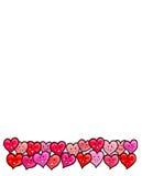 Serca Kochają Szczęśliwej walentynki Zdjęcie Royalty Free