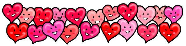Serca Kochają Szczęśliwej walentynki Wpólnie Obrazy Royalty Free
