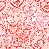 Serca kochają bezszwowego wektor Zdjęcia Royalty Free