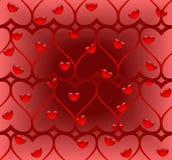 serca kręcony deseniowy bezszwowy Zdjęcia Royalty Free