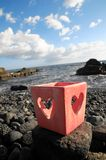 Serca kształtny świeczki właściciel Zdjęcie Stock
