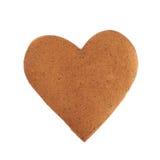 Serca kształtny ciastko odizolowywający obrazy stock