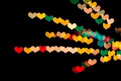 Serca kształtny bokeh Obrazy Stock