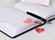 Serca kształtny bookmark Obrazy Royalty Free