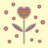 Serca, kwiatu wzór dla i Zdjęcie Royalty Free