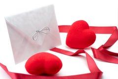 serca litery czerwone paski 2 Fotografia Stock
