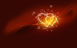 Serca Miłość ilustracja wektor