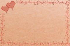 Serca na brown tle dla kart i sztandarów ilustracji