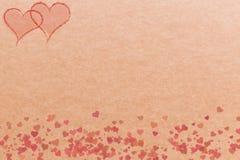 Serca na brown tle dla kart i sztandarów royalty ilustracja