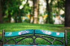 serca na plecy ławki Zdjęcia Royalty Free