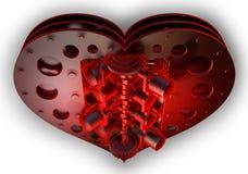 serca odosobniona czerwona V8 witka Obraz Royalty Free