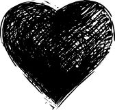 serca odosobniony symbolu biel Zdjęcie Royalty Free