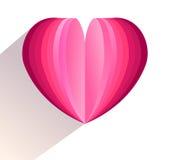 serca odosobniony symbolu biel Mieszkanie odosobniona wektorowa ilustracja Fotografia Stock