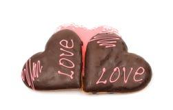 Serca oszronieje ciastka Zdjęcia Stock