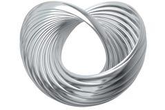 serca pierścionku srebro Zdjęcie Royalty Free