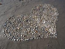 Serca Plażowy Sceniczny obraz stock