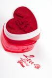 serca prasy kształta znaczek Zdjęcie Stock