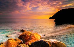 Serca Przy morzem Fotografia Stock