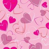 Serca różowią bezszwowego wzór - opakunkowy papier Obraz Royalty Free