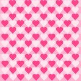 Serca Różowią bielu wzór Obraz Royalty Free