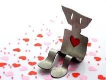 serca różowią czerwień Zdjęcie Stock