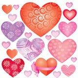 serca różowią set Zdjęcia Stock