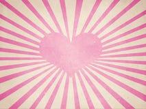serca różowy promieni kształt Fotografia Royalty Free