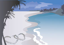 serca sand dwa royalty ilustracja