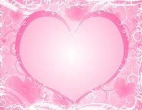 serca tła światło ramowy różowa miękka royalty ilustracja