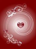 serca tła czerwone Zdjęcia Stock