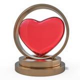 serca tła pojedynczy czerwony white 3d ilustracja wektor