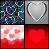 serca tapetują czerwień Obrazy Royalty Free
